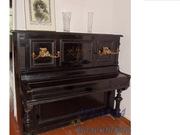 Продам пианино ХIХ век,  Offenbacher,  Германия,  чёрное с канделябрами