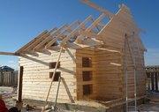 Строительство деревянного дома,  бани от фундамента под кровлю с послед