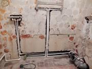Замена труб водоснабжения,  отопления,  канализации.