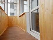 Отделка балконов,  лоджий. Вагонка,  панели.