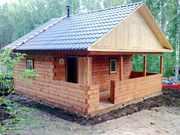 Дом баня из бруса. Строительство под ключ. Красноярск