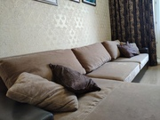 Ортопедический диван и кресло из натуральной кожи и микровелюра
