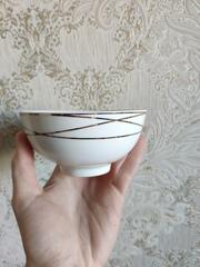 Вафельный хрусталь чашки для чая Bohemia Czech Republic
